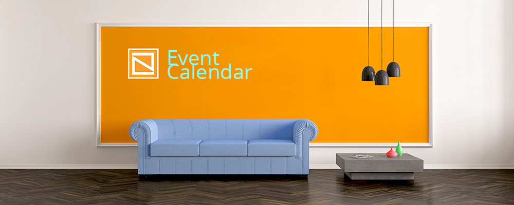 Living Room with Event Calendar on the Wall